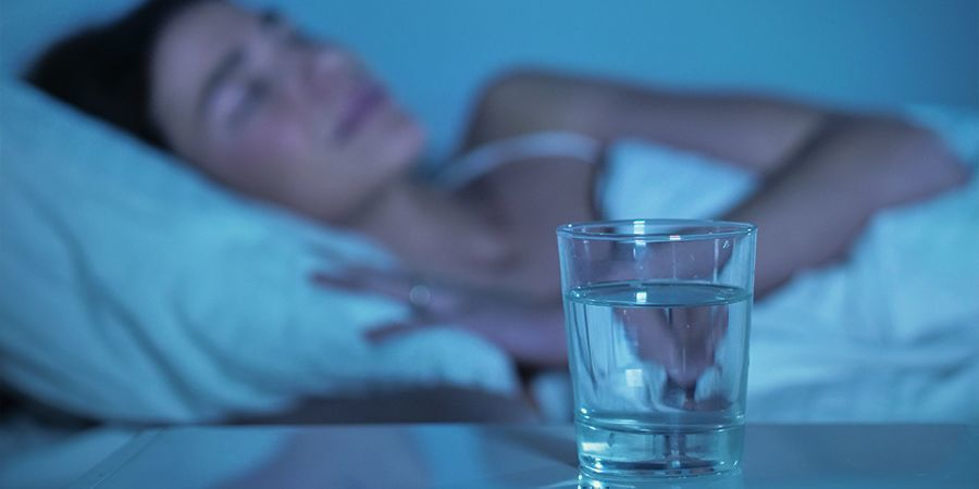 DRINK WATER BEFORE GOING TO SLEEP