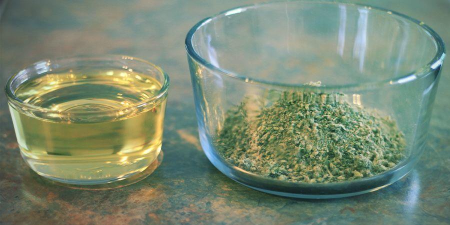 Wie man Olivenöl mit Cannabis anreichert: Zutaten