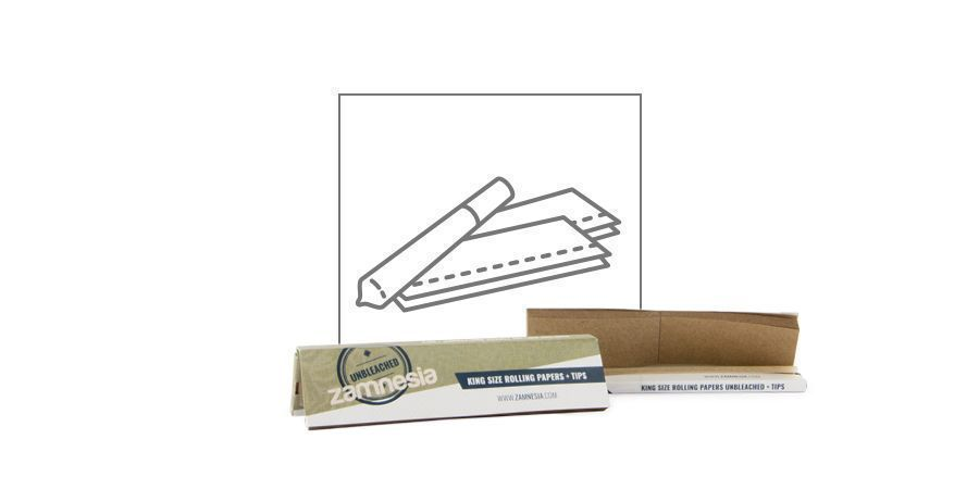 Zamnesia Unbleached Rolling Papers King Size + Tips