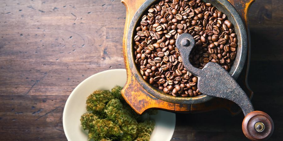 USE A COFFEE GRINDER TO MAKE CANNA-COFFEE