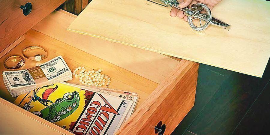 A False Bottomed Drawer To Hide Stash