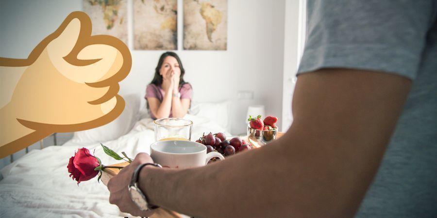 Canna-Frühstück Im Bett