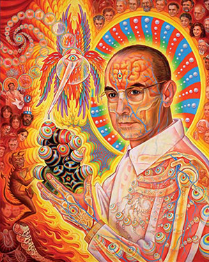 """St. Albert and the LSD Revelation Revolution"" - Alex Grey"