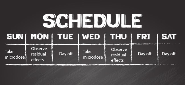 Microdosing Schedule