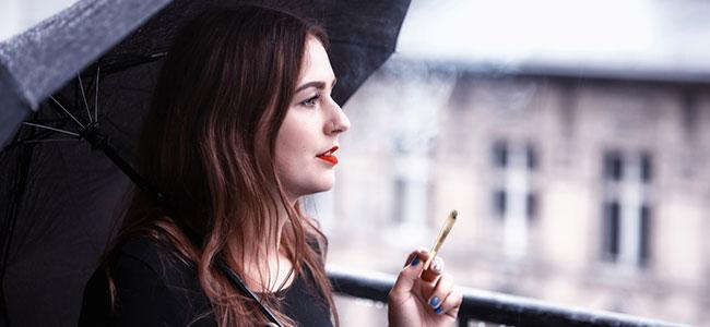 Smoking cannabis roof balcony