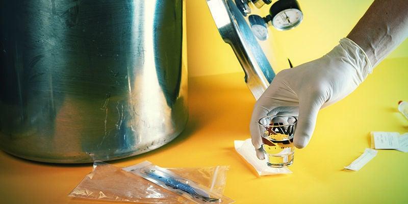 Magic Mushroom Spore Syringe: Remove The Shot Glass/Small Dish From The Pressure Cooker