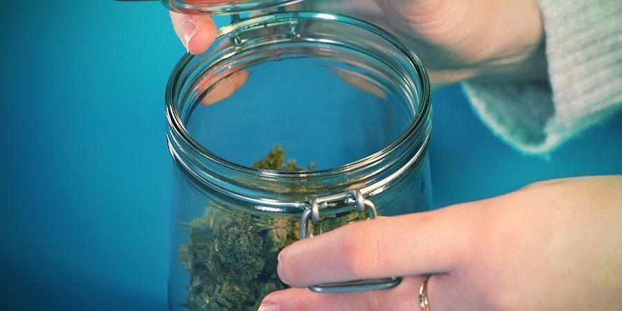 Cannabis lagern