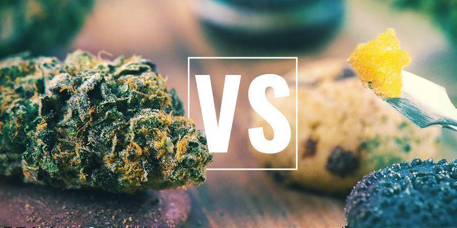 Cannabisblüten vs Esswaren vs Konzentrate