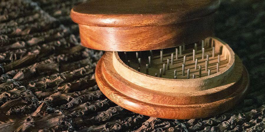 Wooden weed grinders