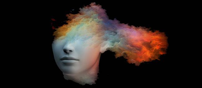 Cerveau créatif après prendre les champignons magiques
