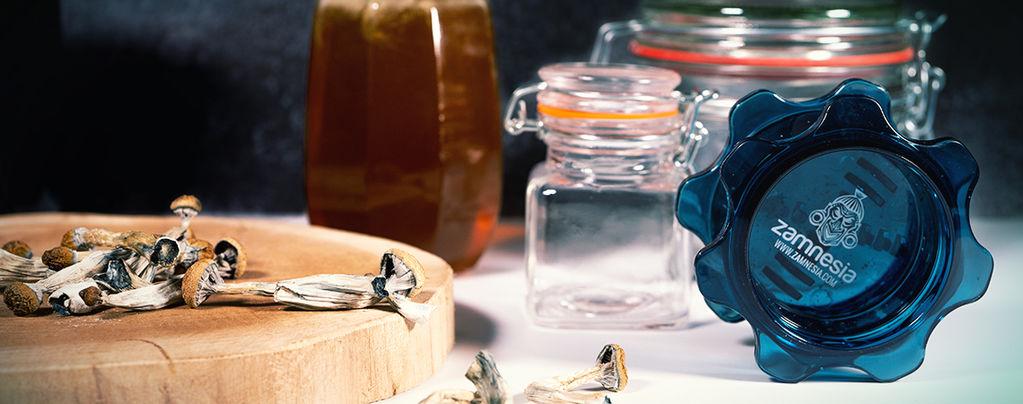 Blauer Honig: Halluzinogener Honig mit Zauberpilzen