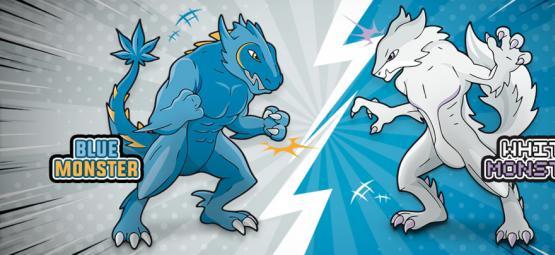 Blue Monster vs White Monster: The Battle Of The Century