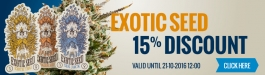 15% Discount Exotic Seed