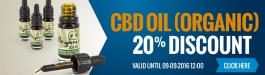 20% Discount Organic CBD oil