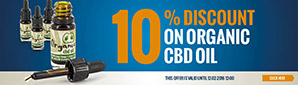 10% Discount Organic CBD Oil