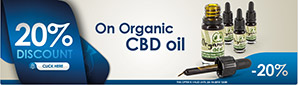 20% Discount on ALL Organic CBD Oil