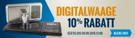 10% Rabatt Digitalwaage