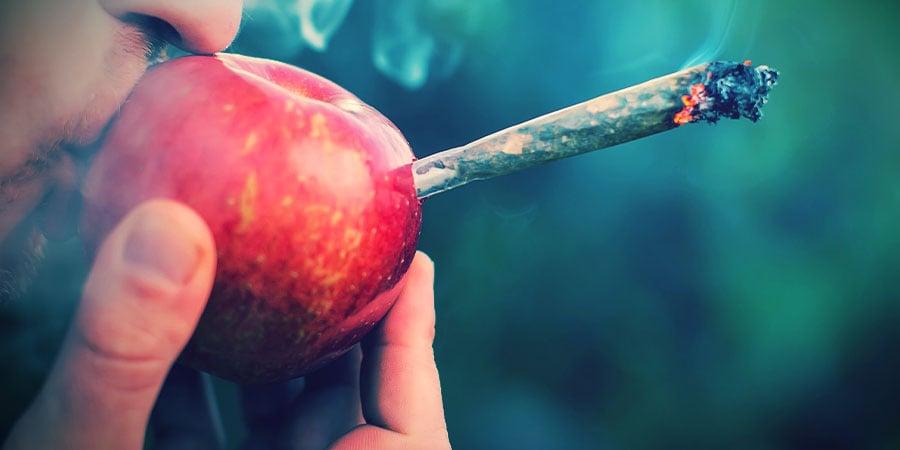 Smoke Cannabis Apple Pipe