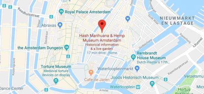 Location & Adress Hash Marihuana & Hemp Museum Amsterdam