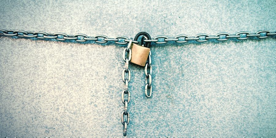 PREVENT ACCESS WITH A LOCK AND KEY