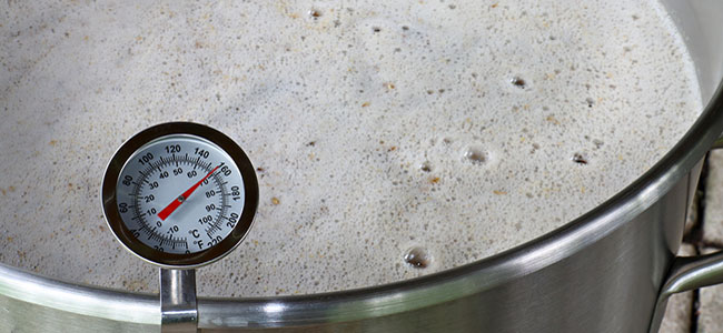 Thermometer beer mash temperature