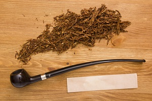 Wooden pipe tobacco